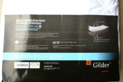 Gilder Katoen gewatteerde matrasbeschermer - Wit 180x220