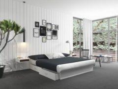 Silversleep Wasserbett mit Stauraumsockel, 180 x 200 cm, Dual - System, weiß, schwach beruhigt