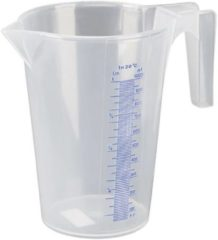 Transparante Pressol Maatbeker met maatindex 1 liter type 07062