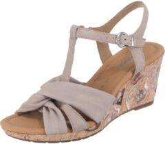 Taupe Sandalen met riem
