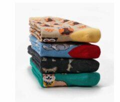 GrandSock Multipack Dames Maat 36-40 dierenprint mix 4 paar