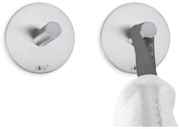 Afbeelding van Zilveren ZACK Duplo - Handdoekhaken Rond - Set van 2