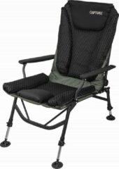 """Zwarte Capture Outdoor, """"AirFlow Black Chair"""" Luxe KarperStoel, Ademend Comfort, Ergonomisch, 4 Verstelbare Poten, Vertselbare Rugleuning, …"""