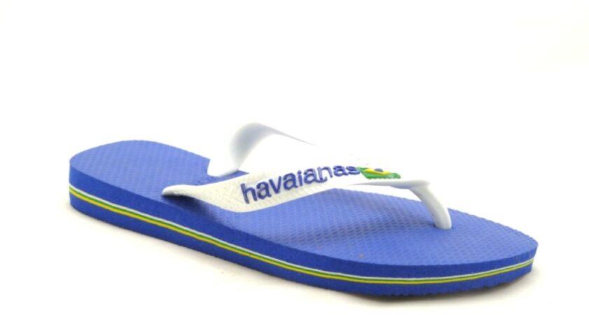 Afbeelding van Gele Havaianas Brazil Logo Kids