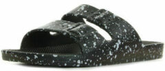 Zwarte Slippers Moses Freedom Slippers Black Splatter