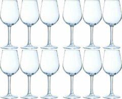Transparante Merkloos / Sans marque 12x Luxe wijnglazen voor witte wijn 270 ml - 27 cl - Witte wijn en rose glazen - Wijn drinken - Wijnglazen van glas