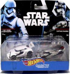 Star Wars First Order Stormtrooper VS. Captain Phasma 1:64 Modelauto - Schaalmodel - Miniatuurauto - Model auto