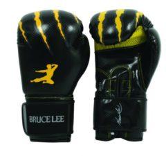 Bruce Lee bokshandschoenen Signature zwart/geel maat 16Oz