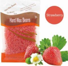 Donkerrode DW4Trading® Hard wax beans 100 gr ontharen harsen lichaam gezicht spatels Strawberry