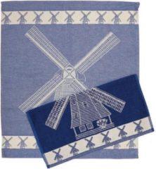 Blauwe Merkloos / Sans marque Theedoek - Molen - Set 6 stuks - 60 x 65 cm - 100 % katoen
