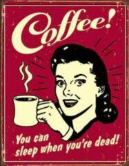 Usa Coffee you can .. wandbord reclamebord koffie