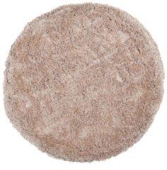 Beige Beliani Cide Vloerkleed Polyester 140 X 140 Cm