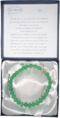Een Wens Halfedelstenen Armband in Geschenkdoos Jade