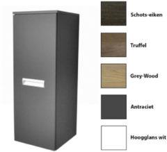 Antraciet-grijze Kolomkast Sanicare Q2/Q3/Q8 Soft-Close Deur Inliggende Alu Greep 90x33,5x32 cm Antraciet