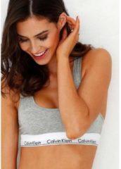 Grijze Calvin Klein Women's Modern Cotton Bralette - Grey Heather - L - Grey