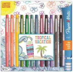 Fineliner Paper Mate Flair Tropical 0.7mm blister à 12 kleuren