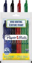 Paper Mate balpen Alfa RT, etui met 10 stuks in geassorteerde kleuren
