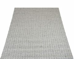 Veercarpets Vloerkleed Tino - Grijs - 200 x 280 cm - Wol - Viscose - Handgeknoopt kleed