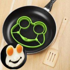 Groene Favorite Things Siliconen bakvorm voor gebakken ei in de vorm van een kikker | Eierflipper mal | Eivorm