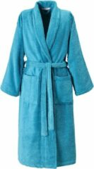 Blauwe De Witte Lietaer Etrusk � Badjas - Unisex - Turquoise - XL