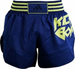 Adidas Kickboksbroek Micro Diamond Geel/ Blauw Maat Xxs