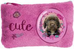 Rachaelhale Rachael Hale Cute Puppy - Pluche Etui - 12,7 X 20 Cm - Roze