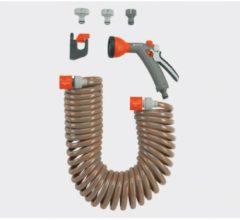 Gardena Spiralschlauch-Set 10 m, komplett mit Classic Bewä sserungsbrause und Systemteilen | 4647-20