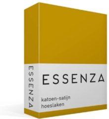 Essenza Satin - Katoen-satijn - Hoeslaken - Eenpersoons - 90x200 cm - Mustard