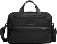 Zwarte Tumi Triple Compartment Brief laptoptas 15 inch black
