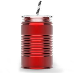 Rode Asobu - Mason Jar I can - 540 ml - Rood