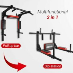 Rode OneTwoFit Multifunctionele Optrekstang Wandmontage Pull Up Bar & Dip Station