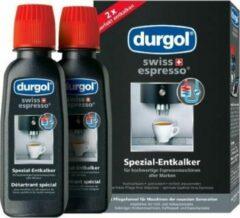 Merkloos / Sans marque Durgol ontkalkingsmiddel 2x125ml ontkalker voor espresso en koffie machines koffiezetapparaat anti kalk
