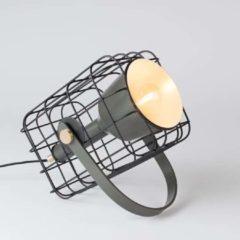 Online only by vtwonen.nl Cage Tafellamp Aluminium 29 x 28,5 cm - Zwart