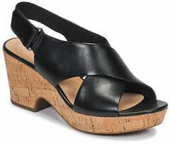 Zwarte Clarks Maritsa Lara Dames Sandalen - Black - Maat 39.5