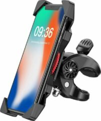 Zwarte Stevige Universele Telefoonhouder Fiets | Fiets Telefoon Houder Extra Stevig | Smartphonehouder Fiets tot 6,5 inch | Fietshouder voor iPhone, Samsung en alle overige telefoon merken