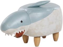 Beliani Shark Hocker Polyester 32 X 67 Cm