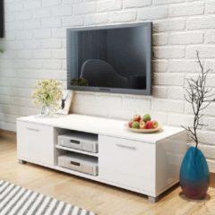 VidaXL Tv-meubel hoogglans wit 120x40,3x34,7 cm