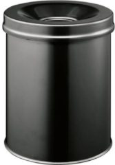 Durable 330501 Papierbak 15 l Staal (Ã x h) 260 mm x 357 mm Zwart Vlamdovende dekselconstructie 1 stuk(s)