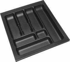 Zwarte Culinorm Storex bestekbak - 44 cm breed x 49 cm diep - Carbon Black