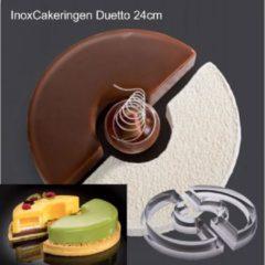 "Roestvrijstalen Martellato Cake-Idea Bakringenset ""Duetto 24cm"""