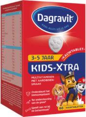 Dagravit Kids Xtra Multivitamine Kauwtabletten Framboos (2-5 jaar) (1 Doosje van 60 stk)