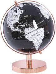 Zilveren Wereldbol zwart/wit 28 cm CABOT