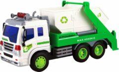 Groene Jollity Works JollyVrooom - Containerwagen met licht en geluid - Schaal 1:16