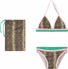 Bruine Quapi bikini Adina snake aop