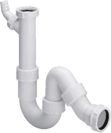 Afbeelding van Witte Viega hostaleen universeel sifon 6/4x40mm metwasmachine aansluiting met klemverbinding 279 387