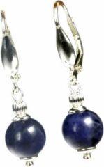 Blauwe Bela Donaco Oorbellen Blue Jeans – Sodaliet – Sterling Zilver
