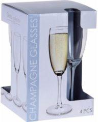 Transparante Merkloos / Sans marque Champagneglazen - 180 ml - 8 stuks
