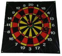 Rode BS Toys BS Dartveld met drie opblaasbare dartpijlen