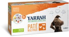 6x150 gr Yarrah organic hond multipack pate kalkoen / kip / rund hondenvoer