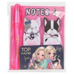 Roze Depesche Top Model TOPModel plakmemo's met mini-pen DOG